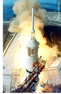 NASA Apollo launch from Brevard's Cape Kennedy