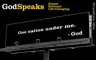 One nation under me - God